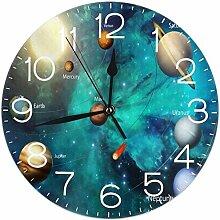 NIUMM Horloge Murale Ronde de la Galaxie Spatiale