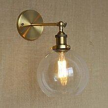 NIUYAO Lampe Applique Murale Abat-jour en Verre