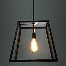 NIUYAO Lampe Suspension Lustre Abat-jour Cage en
