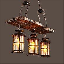 NIUYAO Suspension Lampe Lustre Abat-jour en Verre