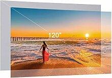 NIZYH Écran de projecteur HD 80 100 120 pouces