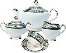 NJBYX Ensemble tasse à café en porcelaine