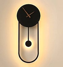 NJBYX Lampe murale Art Déco horloge LED mur