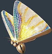 NJZYB Papillon Lampe Murale Nordique Moderne