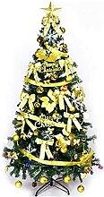 NLASHFO Sapin de Noël Artificiel 180 cm doré (6