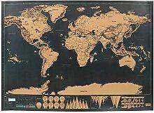 NNMNBV 1 pièce Édition Deluxe Carte du Monde à