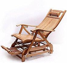 no brand Chaise Longue Bambou Fauteuil à Bascule