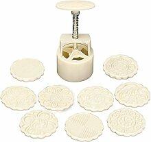 Noblik 100G 10 Pcs Mooncake DIY Moule Outil de