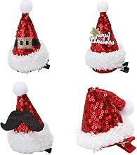 NOENNULL Mini bonnet de Noël - Barrettes à