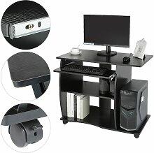 (Noir)Bureau informatique table de bureau Table