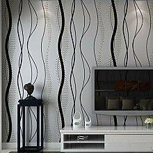 Noir gris ondulé papier peint chambre salon