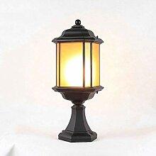 Noir Vintage Cour lampe Creative pilier Lumière,
