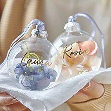 None-brands Boule de Noël personnalisée en verre