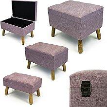 Noor Living Design Products 50347 Tabouret, Tissu,