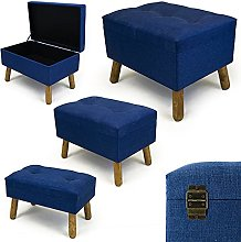 Noor Living Design Products 50348 Tabouret, Tissu,