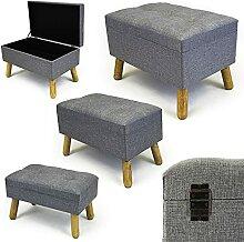 Noor Living Design Products 50349 Tabouret, Tissu,