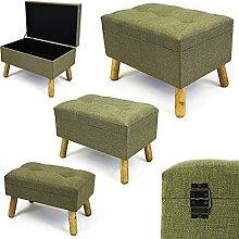 Noor Living Design Products 50350 Tabouret, Tissu,