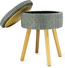 Noor Living Design Products 50484 Tabouret, Tissu,