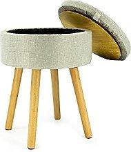 Noor Living Design Products 50485 Tabouret, Tissu,
