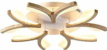 Nordic Wooden Dimming LED Plafonnier Lumière