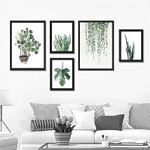 Nordique minimaliste plante tropicale feuilles
