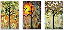 Nordique quatre saisons chanceux vie arbre oiseau