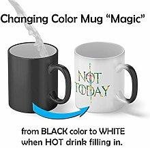 Not Today Arya Stark Flowers Tasse magique Mug  