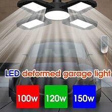 Nouveau 4 Feuilles LED Garage Lumière E27