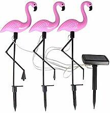 Nouveau Lampadaire Led solaire Flamingo sol