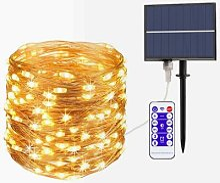 Nouveau LED Lumière Solaire 10m 50m Extérieur