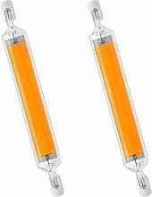 Nouveau R7S LED Ampoule COB Tube en Verre J78 10W