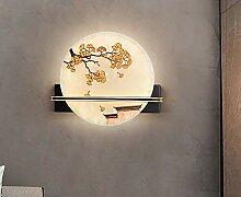 Nouveau style chinois, lampe murale créative,