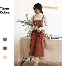 Nouveau tablier en coton et lin pour la cuisine,