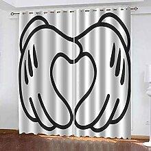 NPBSHZ 3D Imprimé Rideau Occultants Fenêtre à