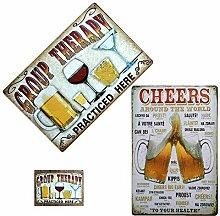 NPTGLYQW Bière Plaque Vintage Tin Signs