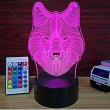 Nuit Lumière Illusions Optiques 3D LED Lampe