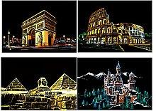 Nuit Scratch Peinture Ville Architecture de