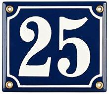 Numéro de Maison | 12x14 cm | Plaque emaillée