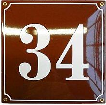 Numéro de Maison | 25x25 cm | Plaque emaillée
