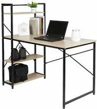 NUO Table de bureau en bois et acier Style