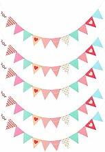 NUOBESTY 5pcs Triangle coloré bannière Drapeaux
