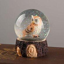 NUOBESTY Boule de Cristal 1Pc avec Hibou Boule de