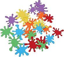 NUOBESTY Peinture Éclaboussures Confettis Papier