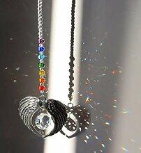 NUOBUGYB Cristal Ange Aile Pendentif avec Boule de