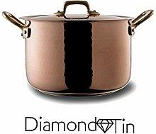 NUOVA HSSC - Marmite Diamond Tin avec Couvercle et