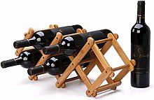 NYDZDM Wine Rack Casier à vin pliable pour 5