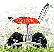 NYZXH Chariot de siège de Jardin Mobile, avec