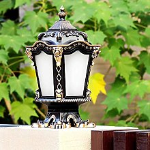 NZDY Antirouille Patio Colonne Lumière E27 Edison