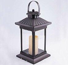 NZDY Bollard Extérieur Étanche Lampe de Colonne