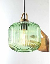 NZDY Boule de Verre Vert Moderne Led Pendentif